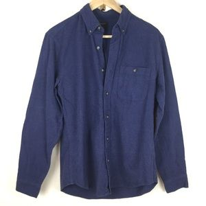 J Crew Blue Flannel Collared Button Up Small